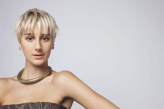 Damen blond kurzhaarschnitt Kurzhaarfrisur Damen