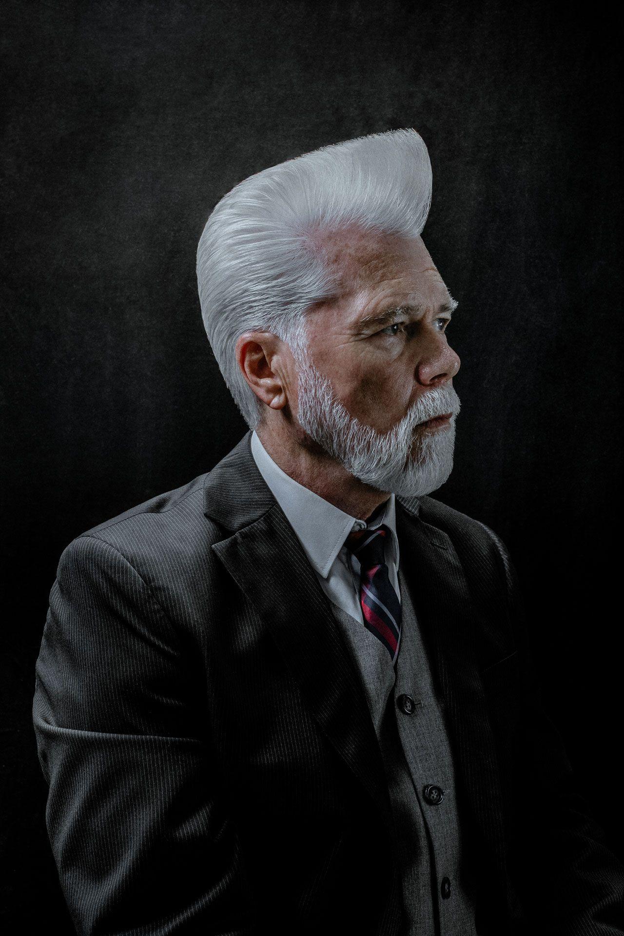 Graue frisur haare mann Graue Haare