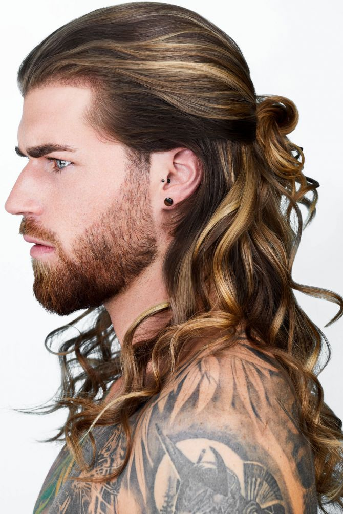 Blonde haare männer lange Männer und